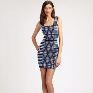 BCBG MaxAzria Hailey Blue bodycon dress Medium
